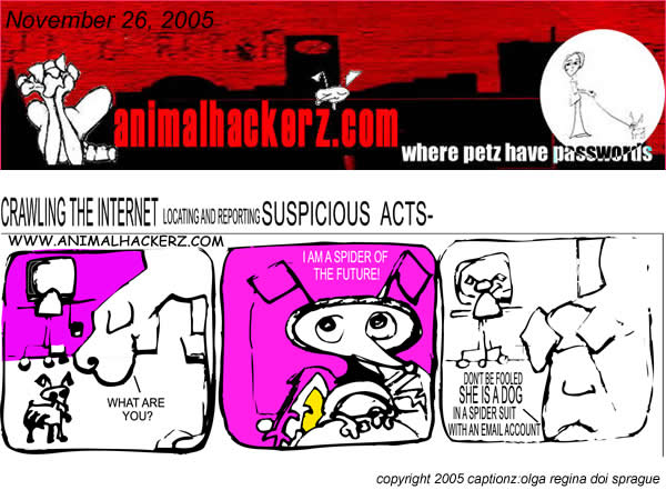 animal hackerz comic for 11.26.2005