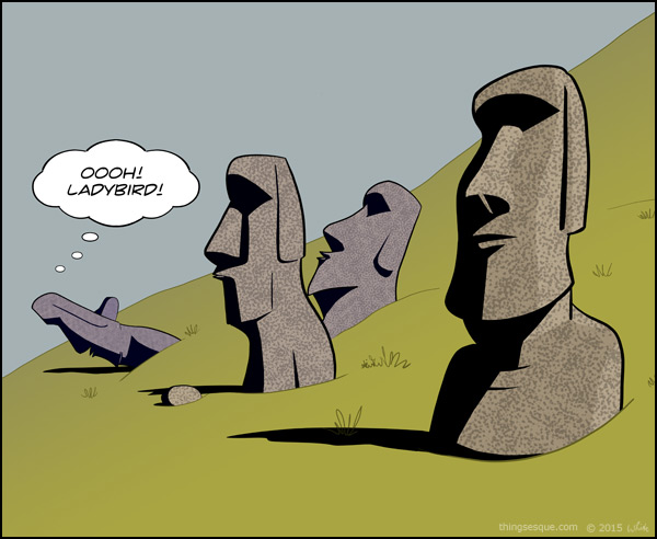 how to draw easter island heads